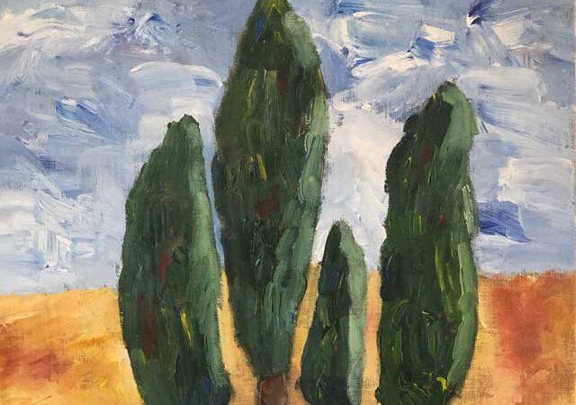 Målning av Emil Östlund